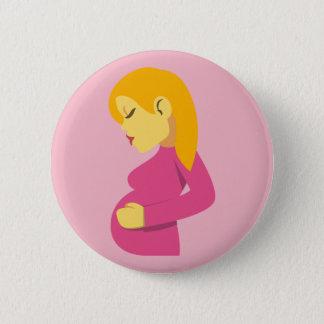 Pregnant Mother Emoji 6 Cm Round Badge