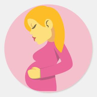 Pregnant Mother Emoji Round Sticker