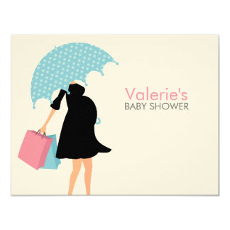 Pregnant Mum Baby Shower Mum Advice 11 Cm X 14 Cm Invitation Card