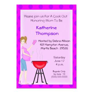 Pregnant Mum Cookout  Invitation