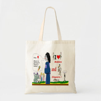 Pregnant New Mommy Budget Tote Bag