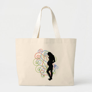 Pregnant/Pregnant swirlies Canvas Bags