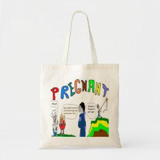 Pregnant Proud Dad Budget Tote Bag