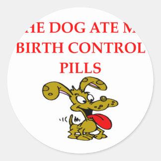 pregnant round sticker