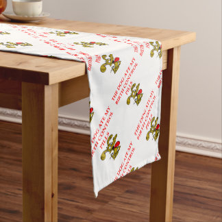 pregnant short table runner