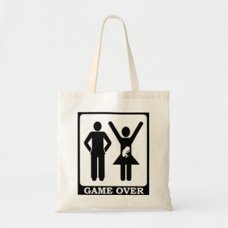Pregnant Wife Game Over Budget Tote Bag