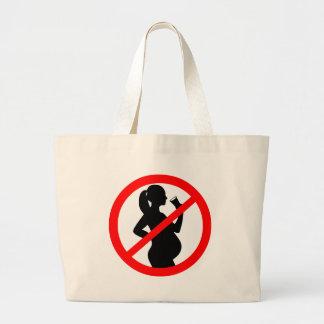 Pregnant Woman Alcohol Symbol Canvas Bags