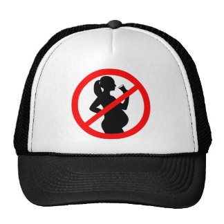 Pregnant Woman Alcohol Symbol Mesh Hat