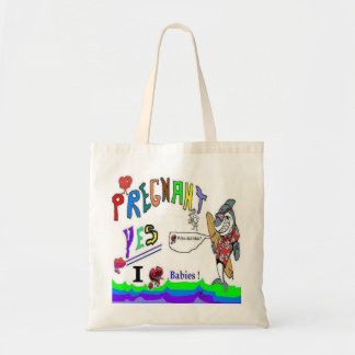 Pregnant Yes Canvas Bags
