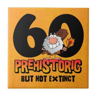 Prehistoric 60th Birthday Tile