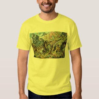 Prehistoric Animals Antique Print Tshirt