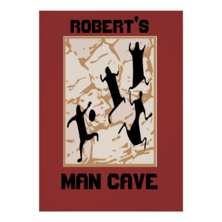 Prehistoric Basketball Cave Drawings, Robert's,... Poster