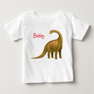 Prehistoric Brachiosaurus Dinosaur Baby Shirt