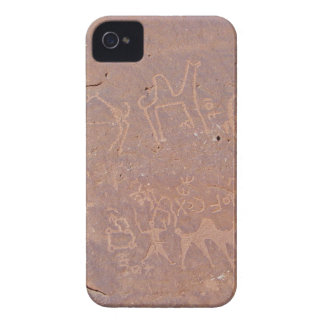 Prehistoric Carved Drawings In The Desert iPhone 4 Case-Mate Case