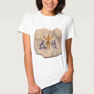 Prehistoric Cave Drawing Woman & Servants Tshirts