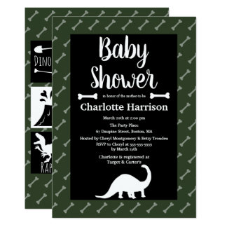 Prehistoric Dinosaurs Baby Shower Card