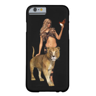 Prehistoric Fantasy Girl and Lion Barely There iPhone 6 Case