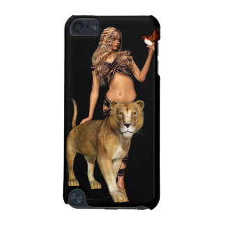 Prehistoric Fantasy Girl and Lion iPod Touch (5th Generation) Covers