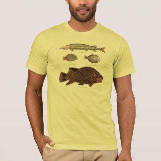 Prehistoric Fish Antique Print T-Shirt