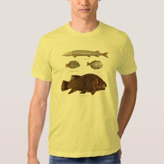 Prehistoric Fish Antique Print T-shirts