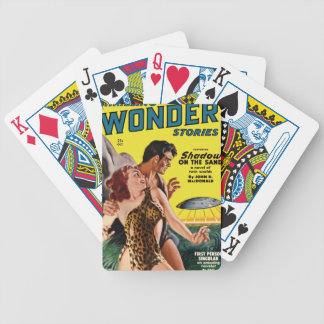 Prehistoric Flying Saucer Bicycle Playing Cards