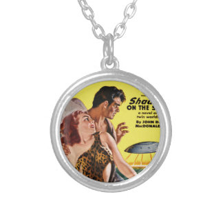 Prehistoric Flying Saucer Silver Plated Necklace