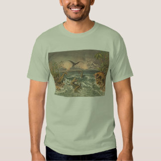 Prehistoric Life Antique Print T Shirt