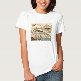 Prehistoric Life Antique Print Tee Shirt