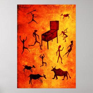 Prehistoric Pinball Poster