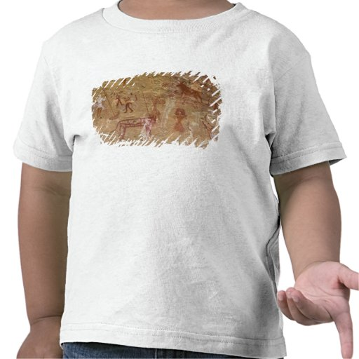 Prehistoric rock paintings, Akakus, Sahara T Shirt