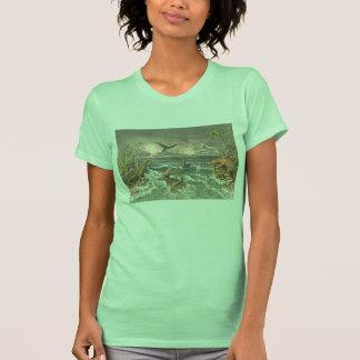 prehistoric world antique dinosaur print shirts