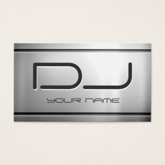 Premium Brushed Stainless Steel Metal - Music DJ Business Card