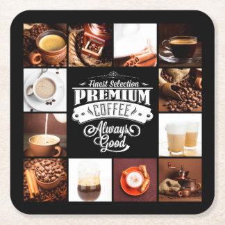 Premium Coffee Always Good Square Paper Coaster
