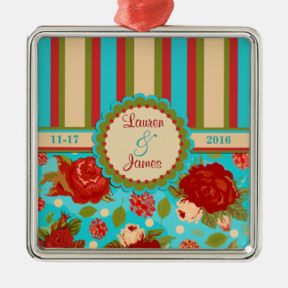 Premium Custom Wedding Couple Vintage Ornament