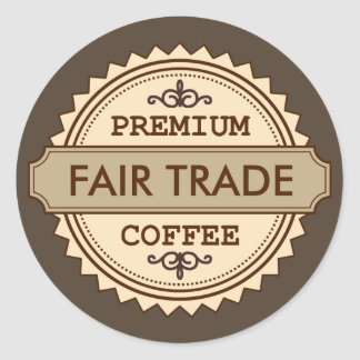 Premium Fair Trade Vintage style business sticker