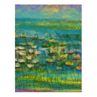 """Premium """"Lilies on the Water"""" design Postcards"""