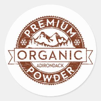 Premium Organic Adirondack Powder Classic Round Sticker