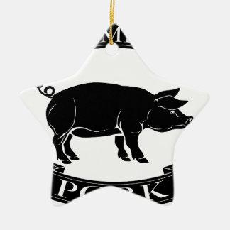 Premium pork icon ceramic star decoration