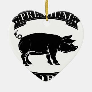 Premium pork icon ornament