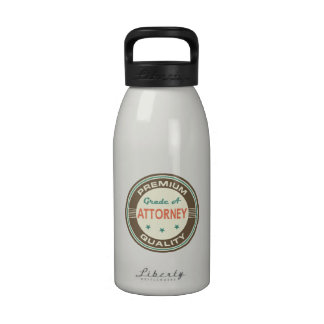 Premium Quality Attorney (Funny) Gift Water Bottle