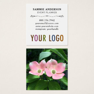 Premium Square Business Cards with Photo & Logo