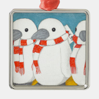 "Premium Square Ornament ""Take me home with you"""