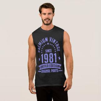 premium vintage 1981 limited edition original part sleeveless shirt
