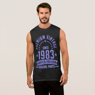 premium vintage 1983 limited edition original part sleeveless shirt