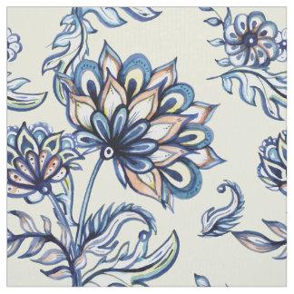 Premium watercolor hand drawn floral batik pattern fabric