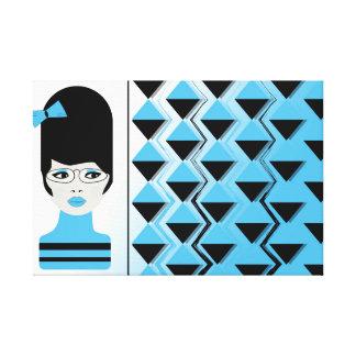 Premium Wrapped Canvas - BIG HAIR MODERN GIRL