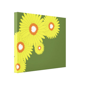 Premium Wrapped Canvas (Gloss) DAISY BURST Gallery Wrapped Canvas