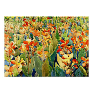 Prendergast - Bed of Flowers Poster