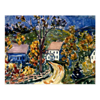 Prendergast - Country Road, New Hampshire Postcard