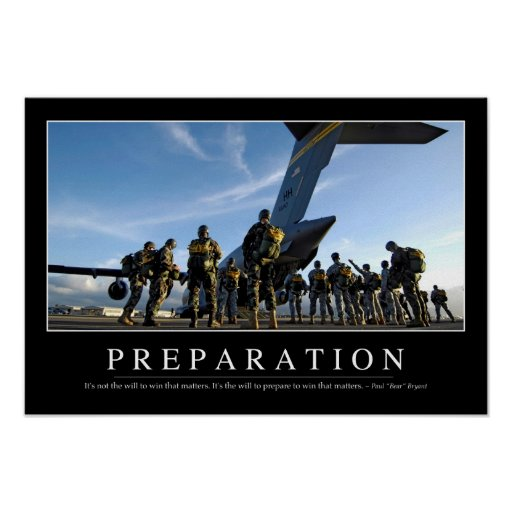 Preparation: Inspirational Quote Print